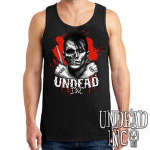 Punk Off Undead Inc Crossbones - Mens Tank Singlet