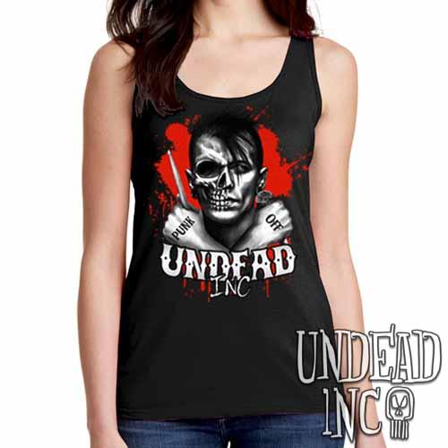 Punk Off Undead Inc Crossbones - Ladies Singlet Tank