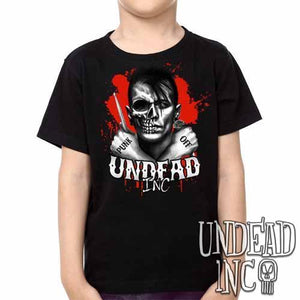 Punk Off Undead Inc Crossbones -  Kids Unisex Girls and Boys T shirt Clothing