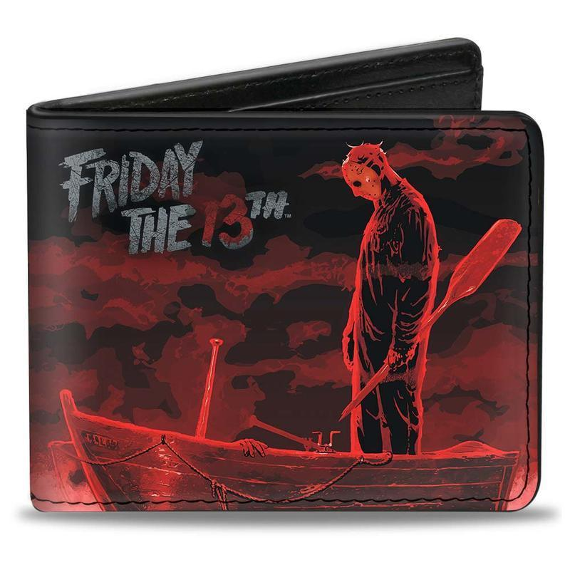 Jason Voorhees Friday 13th Pu Leather Bi-Fold Wallet Wallet Friday 13th