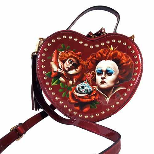 Queen Of Hearts Off With Their Heads Undead Inc Shoulder Bag / Handbag With Removable Strap
