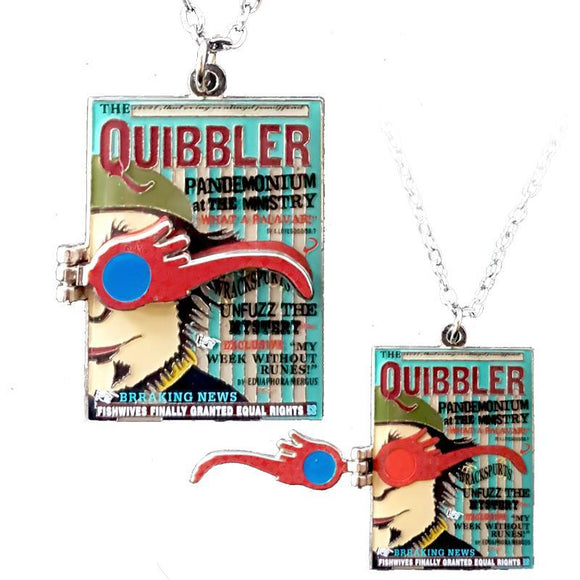Harry Potter Quibbler Magazine Necklace
