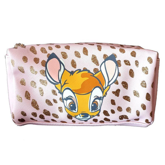 Bambi Glitter Travel Makeup Cosmetics Bag