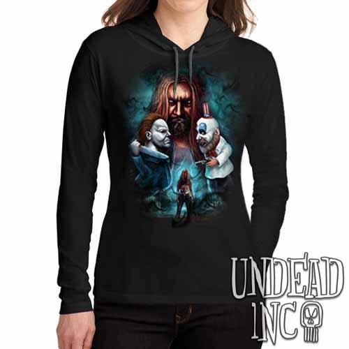 Rob Zombie- Ladies Long Sleeve Hooded Shirt