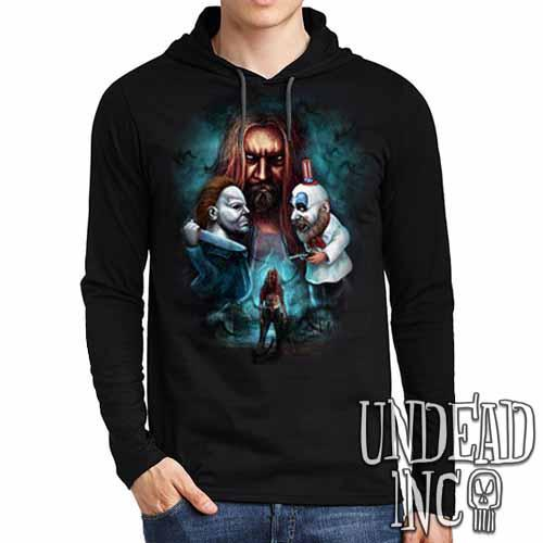 Rob Zombie - Mens Long Sleeve Hooded Shirt