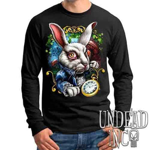 Alice In Wonderland White Rabbit - Mens Long Sleeve Tee