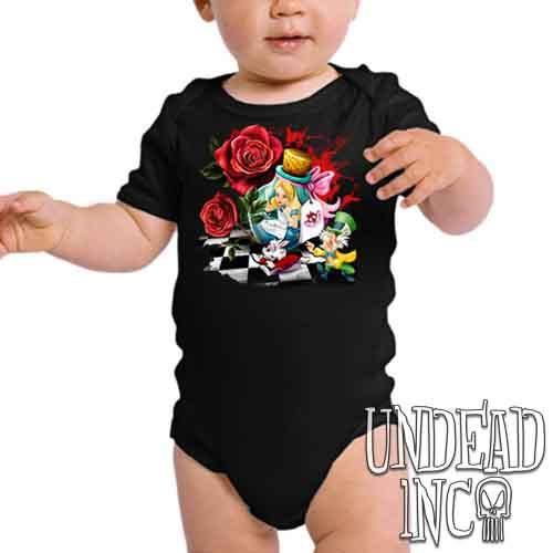 Alice In Wonderland Down The Rabbit Hole - Infant Onesie Romper