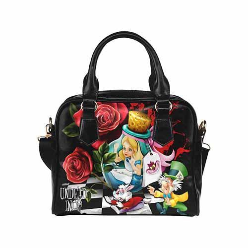Undead Inc Alice in Wonderland Down The Rabbit Hole Shoulder / Hand Bag