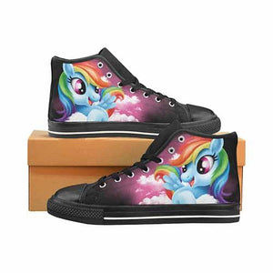 Rainbow Dash Men's Classic High Top Canvas Shoes