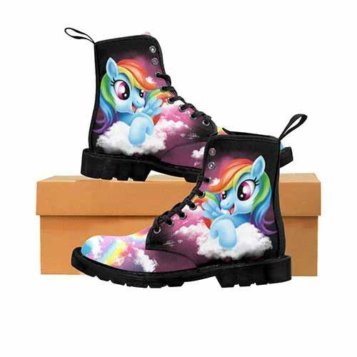 Rainbow Dash MENS Martin Boots