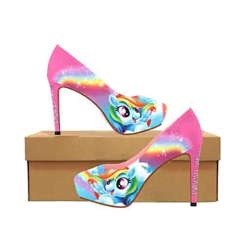Rainbow Dash Platform High Heels