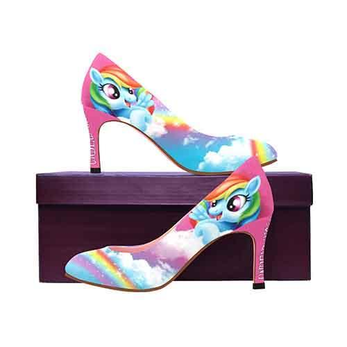Rainbow Dash MEDIUM Women's High Heels