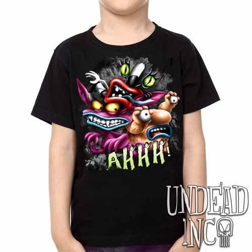 AHH! Real Monsters -  Kids Unisex Girls and Boys T shirt Clothing - Undead Inc Kids T-shirts,