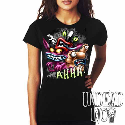 AHH! Real Monsters - Ladies T Shirt - Undead Inc Ladies T-shirts,