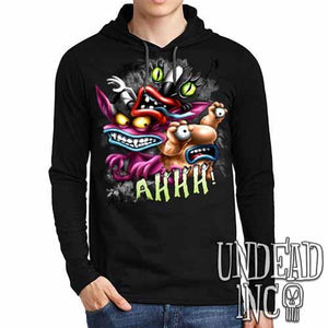 AHH! Real Monsters - Mens Long Sleeve Hooded Shirt - Undead Inc Long Sleeve T Shirt,