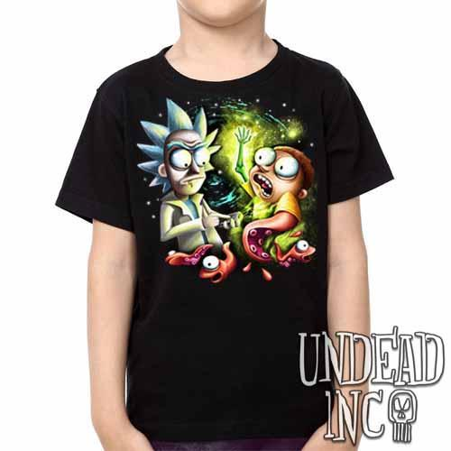 Space Worms - Kids Unisex Girls and Boys T shirt Clothing Kids T-shirts Undead Inc