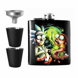 Space Worms Undead Inc Hip Flask Set