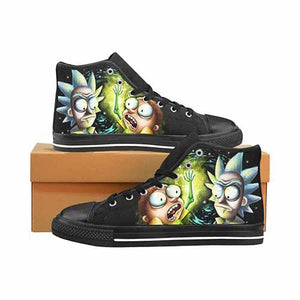 Space Worms Men's Classic High Top Canvas Shoes