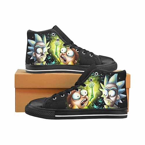 Space Worms LADIES Classic High Top Canvas Shoes