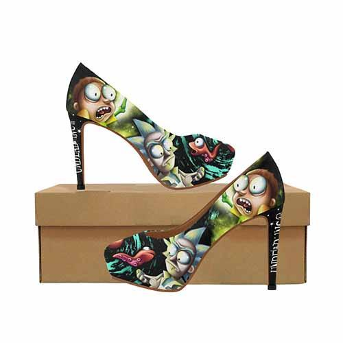 Space Worms Platform High Heels