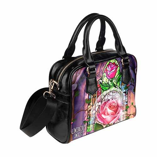 Undead Inc Beauty and the Beast Enchanted Rose Shoulder / Hand Bag