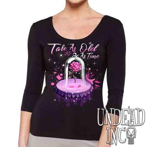 Tale As Old As Time Enchanted Rose - Ladies 3/4 Long Sleeve Tee