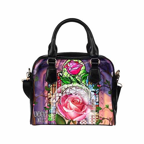 Undead Inc Beauty and the Beast Enchanted Rose Shoulder / HandBag