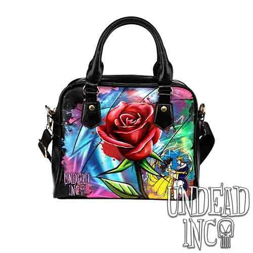 cross body bag Shoulder Bag Disney purse Beauty and the beast stain glass