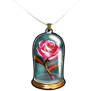 Beauty and the Beast Enchanted Rose Necklace - Undead Inc ,