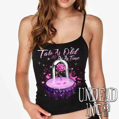 Tale As Old As Time Enchanted Rose - Petite Slim Fit Tank