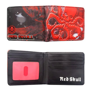Captain America Red Skull PU Leather Bifold Wallet - Undead Inc Wallet,