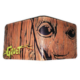 Guardians Of The Galaxy Groot Engraved Wood Pu Leather Bifold Wallet