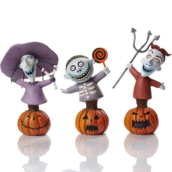 Nightmare Before Christmas Lock Shock & Barrel Bust Statue Set