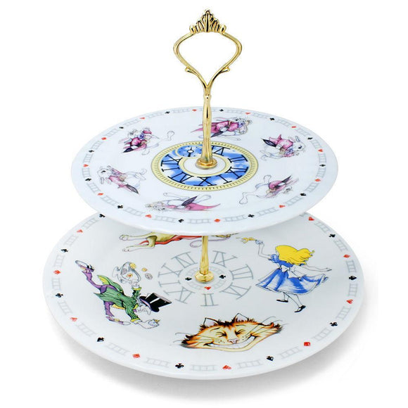Alice In Wonderland Classic Storybook 2 Tier Cake Stand