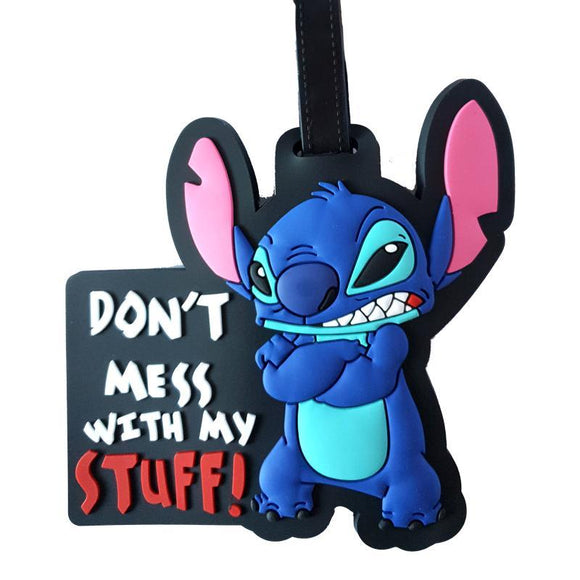 Stitch Don't Touch My Stuff Bag Tag