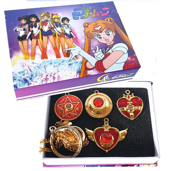 Sailor Moon Necklace & Key Chain Box Set Of 4