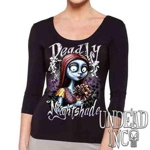 Sally Deadly Nightshade - Ladies 3/4 Long Sleeve Tee
