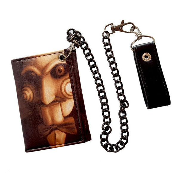SAW Puppet Horror Movie Wallet With Chain