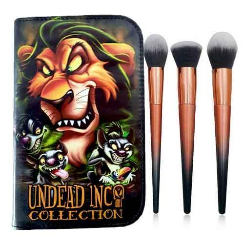 Undead Inc Collection SCAR - Lion King Makeup Brush & Case Set
