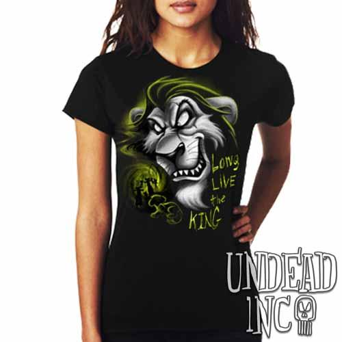 "Villains Scar ""Long live the king"" - Ladies T Shirt BLACK GREY Ladies T-shirts Undead Inc"