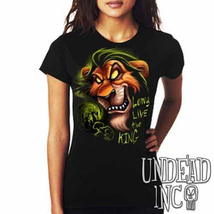 "Villains Scar ""Long live the king"" - Ladies T Shirt"
