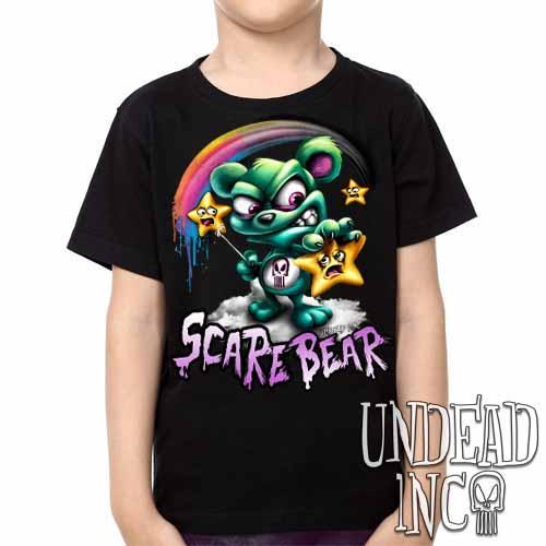 Undead Inc Scare Bear Hunting Stars -  Kids Unisex Girls and Boys T shirt Clothing