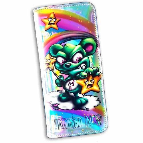 Scare Bear Undead Inc Hologram Long Line Wallet Purse
