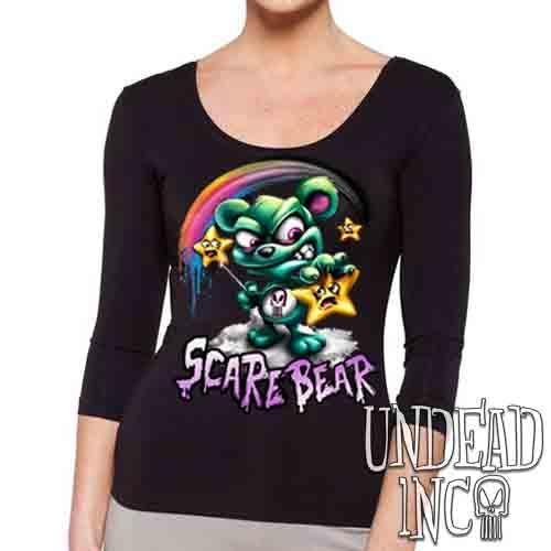 Undead Inc Scare Bear Hunting Stars - Ladies 3/4 Long Sleeve Tee