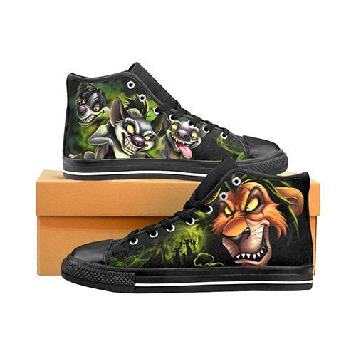 Villains Lion King Scar & Hyenas Men's Classic High Top Canvas Shoes