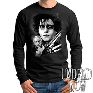 Edward Scissorhands & Vincent Price Black & Grey - Mens Long Sleeve Tee