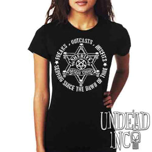 Undead Inc County Sherriff - Ladies T Shirt