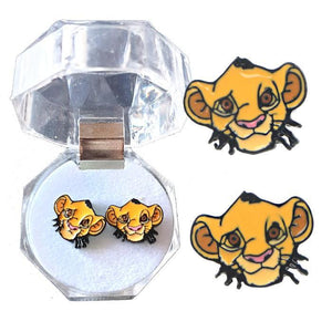Lion King Simba Face Earrings