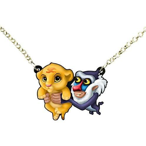 The Lion King Baby Simba & Rafiki Necklace