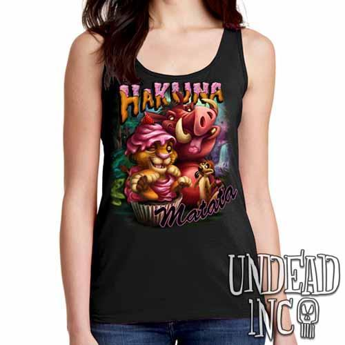 Lion King Cupcake Simba Timon & Pumba - Ladies Singlet Tank